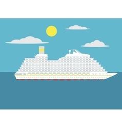 Cruise passenger ship cartoon vector