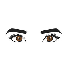 woman eyes icon vector image