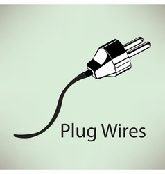White electricity plug with spiral cord eps10 vector