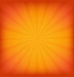 Orange burst grunge background vector