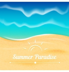 Summer background with sea view vector