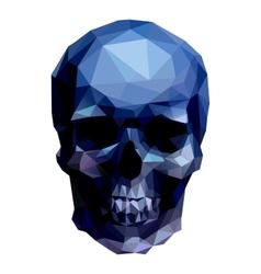 Blue skull vector