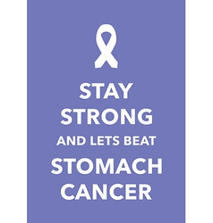 Stomach cancer poster vector