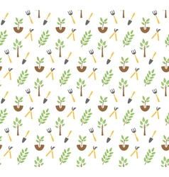 Gardening seamless pattern vector