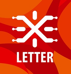 Logo letter x in the form chip vector