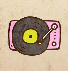 Record player cartoon vector