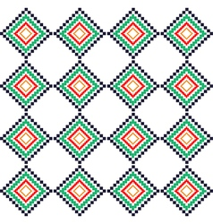 Green red rural geometric ornament pattern vector