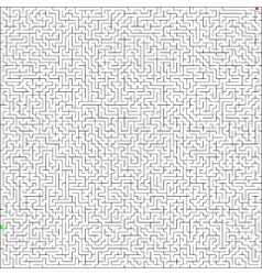 Perfect maze vector