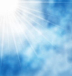 Nature background blue sky and sun vector