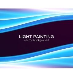 Abstract background glowing waves vector