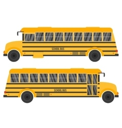 With yellow school bus vector