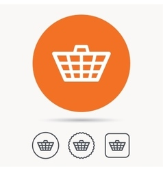 Basket icon Shopping cart sign vector image vector image
