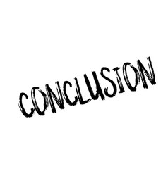conclusion rubber stamp royalty free vector image
