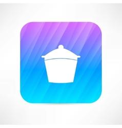 cooking pan vector image