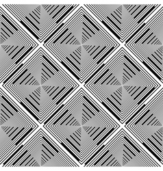 Design seamless monochrome rhombus stripy pattern vector image
