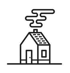 Flat cool house symbol vector image