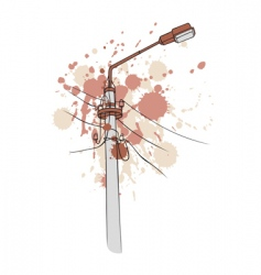 grunge pillar lamp vector image