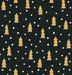 Hand drawn seamless pattern with Christmas trees vector image vector image