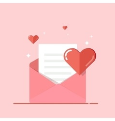 Love letter greeting card invitation isolated on vector