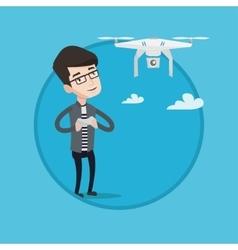 Man flying drone vector
