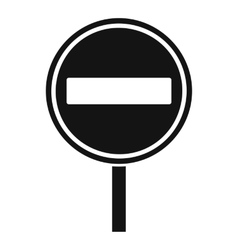 No entry sign icon simple style vector