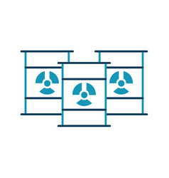 nuclear barrels isolated icon vector image