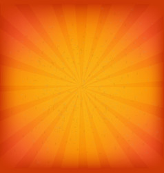 orange burst grunge background vector image
