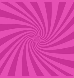 Pink spiral ray background - graphic design vector