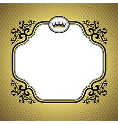Queen frame gold vector