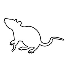 Rat black color icon vector