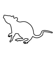 Rat black color icon vector