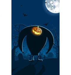 scary Jack-o-lantern vector image vector image