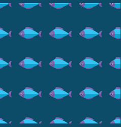 seamless fish pattern ocean or aquarium vector image vector image