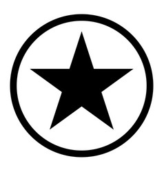 Star in circle the black color icon vector