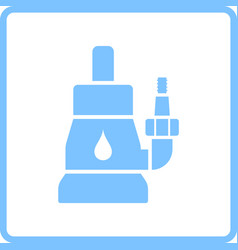 Submersible water pump icon vector