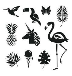 trendy design elements vector image