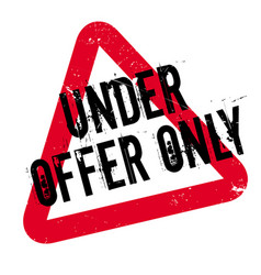 Under offer only rubber stamp vector