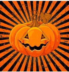 Cute Halloween Pumpkin vector image