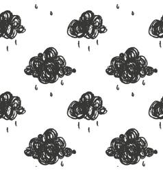 with cartoon handdrawn cloud vector image