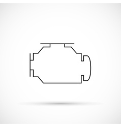 Check engine outline icon vector