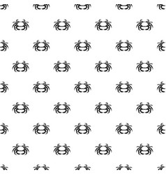 seafood crab pattern vector image