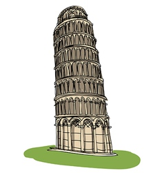 Pisa tower vector