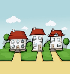 Three house vector