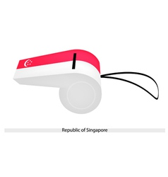 A whistle of the republic of singapore vector