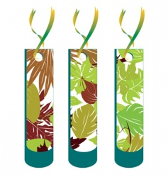 Leaf tag collection vector