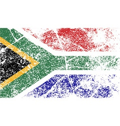 Flag of south africa with old texture vector
