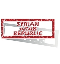 Syrian arab republic outlined stamp vector