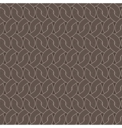 Seamless abstract pattern of twisted ropes vector