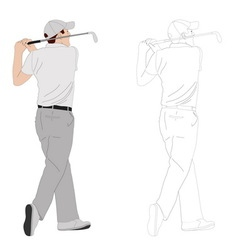 Golf player 2 vector