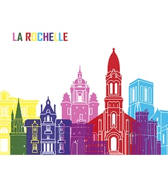 La Rochelle skyline pop vector image